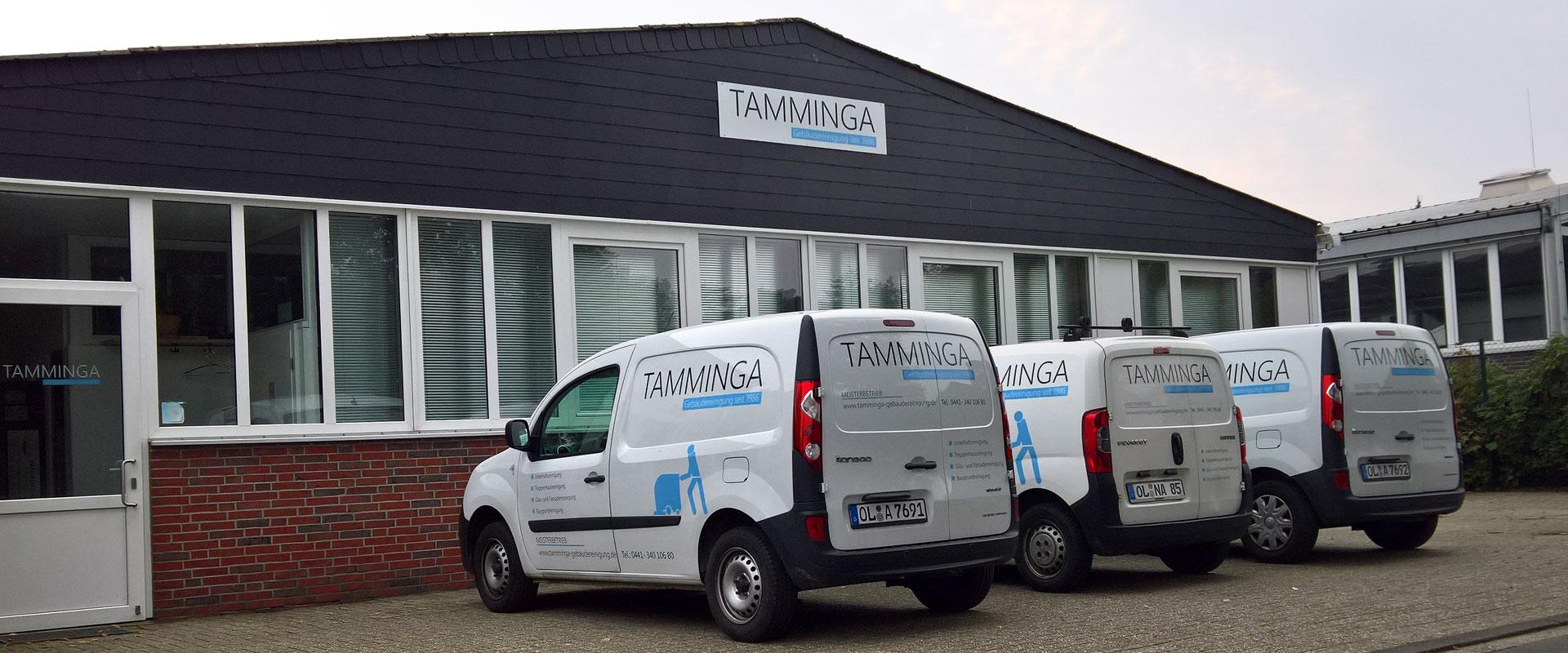 Tamminga Gebäudereinigung - Fahrzeugbeschriftung
