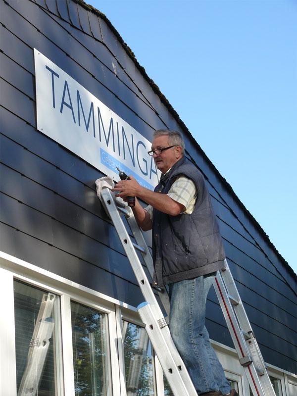 Tamminga Gebäudereinigung - Fassadenschild