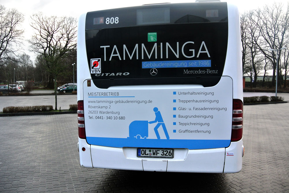 Tamminga Buswerbung in Oldenburg